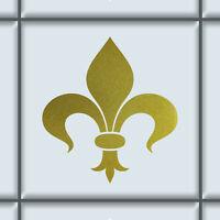DM Lilie 10cm gold Aufkleber Tattoo Auto Tür Fenster Fliesen Deko Klebe Folie