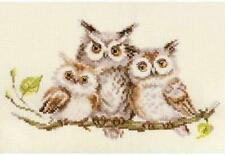 Alisa Counted Cross Stitch Kit - Owls