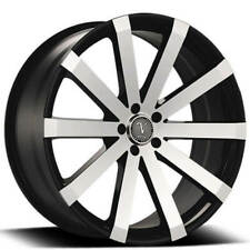 "4ea 22x8.5"" Velocity Wheels VW12 Black Machined Rims (S1)"