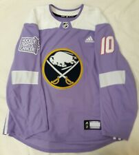 NHL Buffalo Sabres Jacob Josefson Hockey Fights Cancer Game Worn Used Jersey