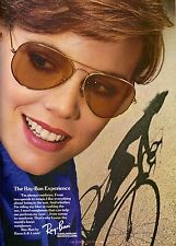 1985 Bausch & Lomb Ray Ban Sunglasses Print Ad Vintage Advertisement 1980s