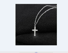 Halskette Kette Kreuz Anhänger Kommunion  Sterling Silber,  NEU
