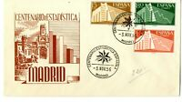 Sobre primer dia España sellos España I Centenario de la Estadistica Española