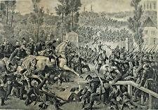 J. Wendland Berlin - Schlacht bei Weissenburg Geisberg Preussen