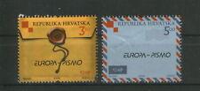 Croatia 2008 Europa Letter Writing Unique Unusual Embossed Varnished Stamp 2v