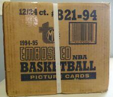1994-95 Topps Embossed Factory Sealed 12 Box Case Look for Michael Jordan Golds