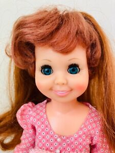 """Vintage Ideal Cricket Doll w/ Blue Eyes Growing Hair 16"""" Crissy Family Exc"""