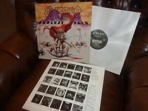 "Kreator, Endless Pain, Thrash Heavy Metal, German Noise OIS OB 1685 LP 12"" 1985"