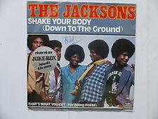 the jacksons sHAKE YOUR BODY epc 7124 Sticker Juke Box