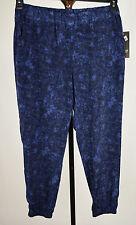 DKNY Womens Blue Printed Jogger Pants XL