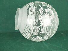 Großer Lampenschirm Jugendstil Glaskugel Glaskuppel für Stand Decken Hängelampen