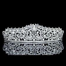 Bridal Pageant Rhinestone Crystal Wedding Prom Crown Tiara 71023