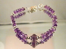 Natural amethyst bracelet with sterling silver clasp...44.5 carat