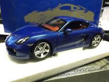 PORSCHE Cayman Coupe 2012 987 981 blau blue NEW Minichamps 1:18