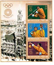 Bhutan 1972 Summer Olympic, Munich 1972, MNH, perf. S/S #1