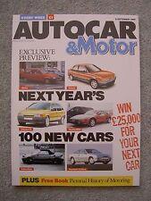 Autocar (6 Sep 1989) Lancia Thema, Renault 21, Audi Quattro, Koenig, Strosek 928