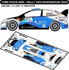 DECALS 1/43 FORD FOCUS WRC #1 - LOIX - RALLYE VAN HASPENGOUW 2013 - MFZ D43181