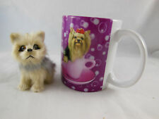 Yorkie Puppy Dog Yorkshire Terrier Keith Kimberlin Coffee Cup Mug + ornament