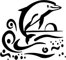 Dolphin Beach Decal Sticker Florida Hawaii Ocean Gulf Surf Sea Dolphins Porpoise