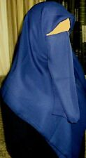New Niqaab Face Veil Khimar Hijab Islam Niqab - Dark Navy Blue Color