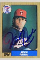 Jeff Reed Twins Rookies Reds Giants Autographed 1987 Topps #247 Signed Card 17C