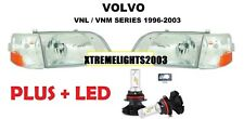 VOLVO VNL 300 VNM 200 1998-2011 DAYCAB TRUCK CLEAR HEADLIGHTS CORNERS 4 PC SET