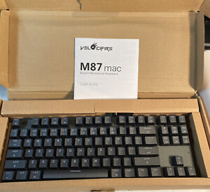 New M87 Mac Layout Mechanical Keyboard, VELOCIFIRE 87-Key
