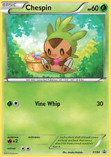 XY88 Chespin Holo Black Star Promo Pokemon Card. NM/MT. In top loader