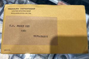 1961 Proof Set ~ Original Envelope & COA ~ US Mint Silver Coin