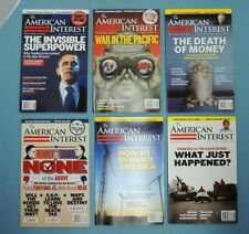 The AMERICAN INTEREST ~ lot of 6 qty. issues 2011 - 2013