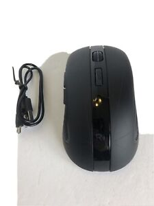 Rii RM200 Wireless Mouse 2.4G Mouse 5 Buttons Rechargeable Black Gaming