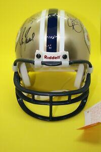 NY Giants SB XXXV Riddell Mini-Helmet with 8 Autographs!