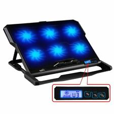 Laptop Cooling Pad Cooler Chill Mat 6 Fans Light for12.6-15 inch Notebook