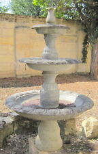 fontaine de jardin marbre taille directe 3 bassins hauteur 158,5 cm