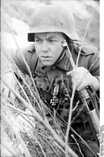 German Army Soldier & Iron Cross Russia 1944 World War 2 Reprint Photo 6x4 Inch