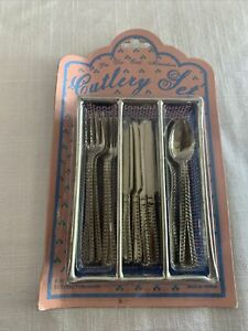 Vintage Childs Pretend Play Cutlery Set: 12 Pieces