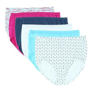 New Fruit of the Loom Women's Plus Size Fit For Me Assorted Brief (6 Pack)