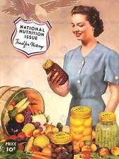Publicidad Vintage 1942 Guerra De Alimentos Nueva imagen de póster de impresión de arte CC4915