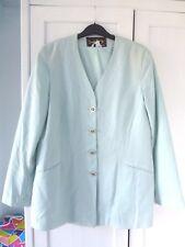 David Barry linen look elegant jacket, pale mint, size 12