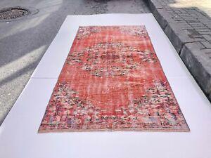 Old Rug,pale turkish rug vintage rug rustic rug FREE SHIPPING wool rug floor rug