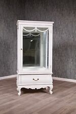 Baroque Display Case Glass Cabinet White Sideboard Dresser Buffet Antique Solid