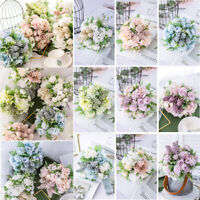 13 Heads Artificial Silk Fake Flowers Bouquet Bridal Wedding Party Home Decor