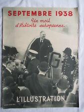 L'ILLUSTRATION HORS SERIE SEPTEMBRE 1938 UN MOIS D'HISTOIRE EUROPENNE