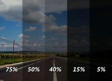 600CM X 75CM LIMO BLACK CAR WINDOWS TINTING FILM TINT FOIL + FITTING KIT 15% NEW