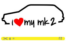 I Love My MK 2 Sticker Line OEM Low Stance Dub ADESIVI