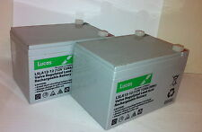 PAIR of LUCAS 12V 12AH MOBILITY SCOOTER BATTERIES - PRIDE, DAYS, INVACARE
