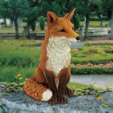 British Sly Fox Garden Statue Yard Decor Nature Red Fox