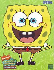 Sega Spongebob Square Pants Video Arcade Game Flyer 1