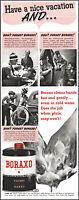 1938 Camping fishing family Borax Powder Soap cleaner vintage photo print ad L50