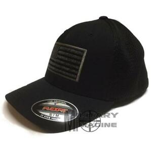 USA American Flexfit Ultrafiber Mesh Cap Tactical Military small US Flag On Side